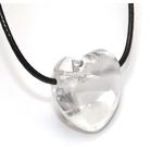 Pendentif Coeur Cristal de Roche ( 2,5 cm )  39700 (1)