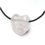 Pendentif Coeur Cristal de Roche ( 2,5 cm )  39700 (2)