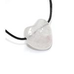 Pendentif Coeur Cristal de Roche ( 2,5 cm )  39700 (3)