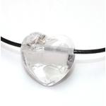 Pendentif Coeur Cristal de Roche ( 2,5 cm )  39700 (4)