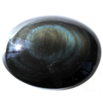 Galet Obsidienne Arc-en-ciel ( 4 à 5 cm ) -Qualité AAA-  30332 (1)
