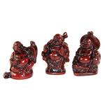 Bouddhas Rouges Petits ( Lot de 6 )  8288 (2)