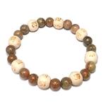 Bracelet Perles de karma Jaspe ( Adulte )  21880 (3)