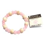 Bracelet Perles de karma Quartz Rose ( Adulte )  17671 (1)
