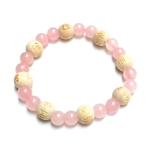 Bracelet Perles de karma Quartz Rose ( Adulte )  17671 (2)