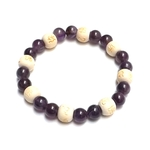 Bracelet Perles de karma Améthyste ( Adulte )  17672 (2)