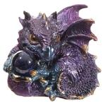 Bébé Dragon Vert, rouge, violet, avec sa boule magique (2)