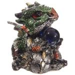 Bébé Dragon Vert, rouge, violet, avec sa boule magique (6)