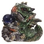 Bébé Dragon Vert, rouge, violet, avec sa boule magique (7)