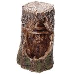 Sorcier sculpté bois éclairé par LED  DRG367 (1)
