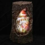 Sorcier sculpté bois éclairé par LED  DRG367 (5)