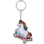 Porte-clefs Licorne - My other ride is a unicorn  KEY50Myo (2)