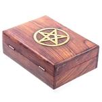 Boîte En Bois Pentagramme GM (17 cm)  IF182 (2)