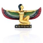 FIGURINE DÉESSE ISIS DÉPLOYÉE EGYPTE (15 CM) (3)