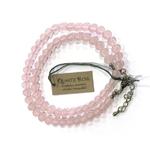 Collier Quartz Rose - perles 6 mm (2)