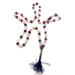 Collier Mala Cristal de roche- Améthyste- Quartz rose 108 perles (8 mm) (3)