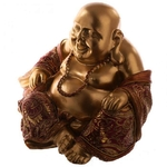 Figurine Bouddha Chinois Or et Rouge (16 cm) (3)
