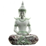 Bouddha Thaï Méditation Blanc (26 cm)  (2)
