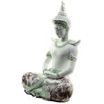 Bouddha Thaï Méditation Blanc (26 cm)  (3)
