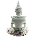 Bouddha Thaï Méditation Blanc (26 cm)  (4)