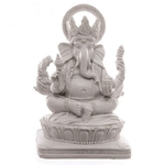 Statue Ganesh Blanc (14 cm) (2)