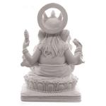 Statue Ganesh Blanc (14 cm) (4)