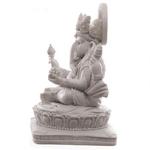 Statue Ganesh Blanc (14 cm)5