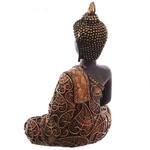Statue Bouddha Thaï zen rouge Méditant (3)