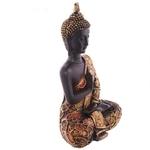 Statue Bouddha Thaï zen rouge Méditant (7)