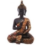 Statue Bouddha Thaï zen rouge Méditant (6)