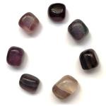 fluorite violette mauve, véritable pierre roulée (2)
