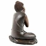 Bouddha Thaï -Effet Bois- Tête sur Genou Gauche (A)  (1)