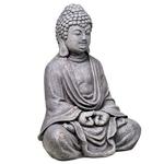 Statut Bouddha en méditation grise (33 cm) (3)