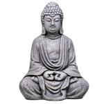 Statut Bouddha en méditation grise (33 cm)