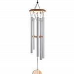 Carillon à vent 5 tubes bois naturel (54 cm) (2)