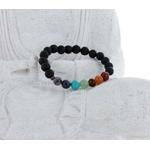 Bracelet Perles de Lave Chakra (8 mm)