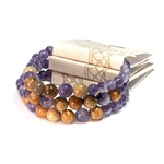 Bracelet Améthyste et Jaspe Paysage fabrication artisanal fait main de la marque oYa véritable pierre naturelle lithothérapie bien etre perles de 6 mm et 8 mm (2)