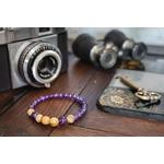 Bracelet Améthyste et Jaspe Paysage fabrication artisanal fait main de la marque oYa véritable pierre naturelle lithothérapie bien etre perles de 6 mm et 8 mm (3)