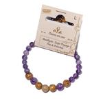 Bracelet Améthyste et Jaspe Paysage fabrication artisanal fait main de la marque oYa véritable pierre naturelle lithothérapie bien etre perles de 6 mm et 8 mm (8)