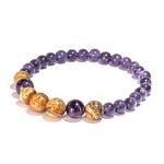 Bracelet Améthyste et Jaspe Paysage fabrication artisanal fait main de la marque oYa véritable pierre naturelle lithothérapie bien etre perles de 6 mm et 8 mm (10)