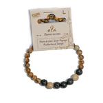 Bracelet oYa Jaspe Paysage et Pierre de Lave fabrication artisanal fait main de la marque oYa véritable pierre naturelle lithothérapie bien etre perles de 6 mm et 8 mm (1)