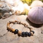 Bracelet oYa Jaspe Paysage et Pierre de Lave fabrication artisanal fait main de la marque oYa véritable pierre naturelle lithothérapie bien etre perles de 6 mm et 8 mm (2)