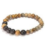 Bracelet oYa Jaspe Paysage et Pierre de Lave fabrication artisanal fait main de la marque oYa véritable pierre naturelle lithothérapie bien etre perles de 6 mm et 8 mm (4)