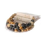 Bracelet oYa Jaspe Paysage et Pierre de Lave fabrication artisanal fait main de la marque oYa véritable pierre naturelle lithothérapie bien etre perles de 6 mm et 8 mm (5)