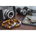 Bracelet oYa le Bonheur est un Choix Oeil de tigre et 4 pierres piliers -lithothérapie-vertus-améthyste-turquoise-jaspe-lapis-lazuli-pierre-naturel-(6)