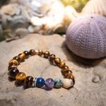 Bracelet oYa le Bonheur est un Choix Oeil de tigre et 4 pierres piliers -lithothérapie-vertus-améthyste-turquoise-jaspe-lapis-lazuli-pierre-naturel-(4)