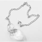 Pendule à facettes cristal de roche Goutte (2)