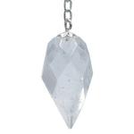 Pendule à facettes cristal de roche Goutte (1)