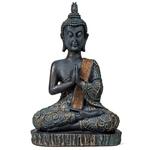 Statue Bouddha en position de prière  style antique H 22 cm (1)