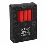 Boite de 12 bougies rouge de sorcellerie-rituel-magie-priere